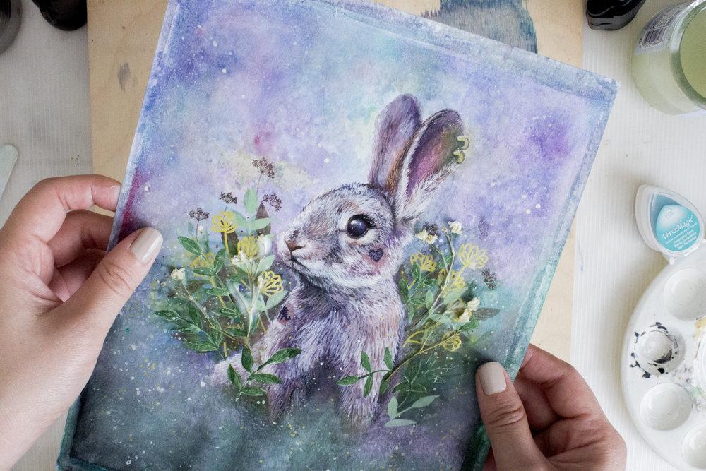 Fairytale Tattoo Brave Badass Bunny Rabbit Painting
