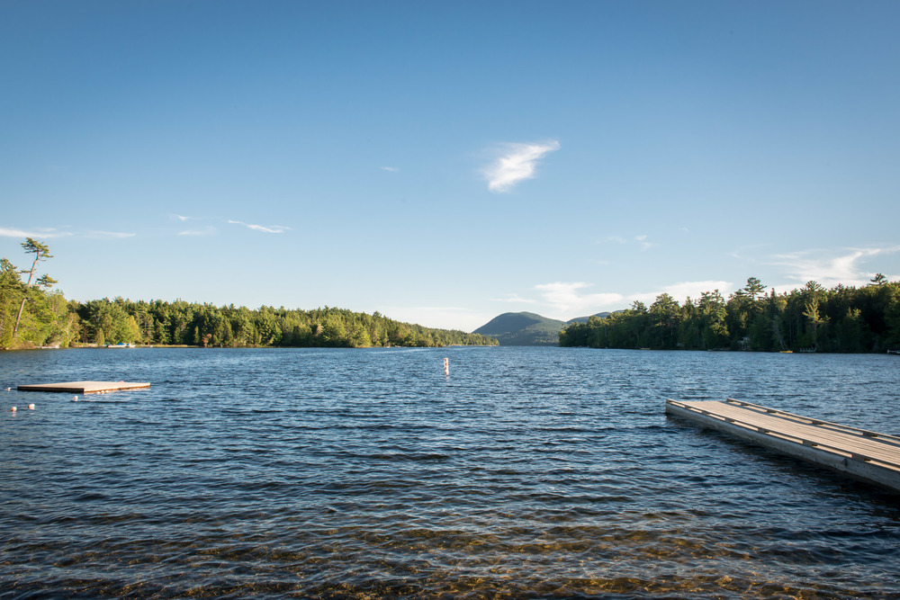 Long Pond, just 1/10 mile from Fern Way, Acadia's largest lake with swimming beach