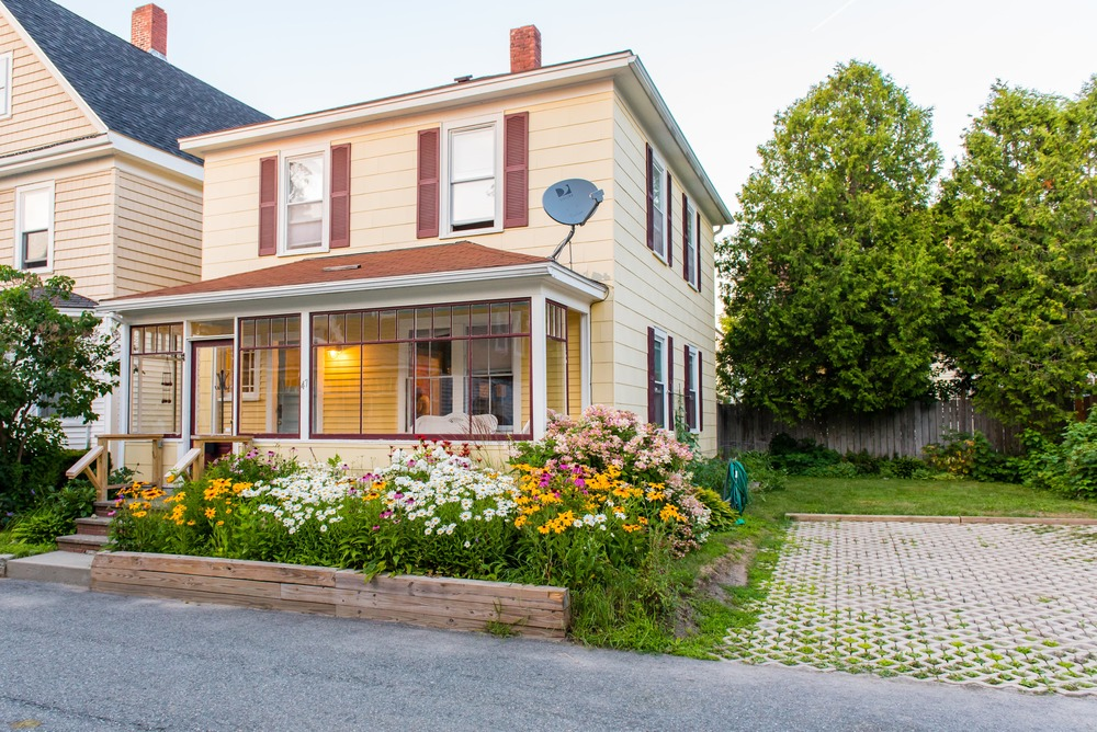A freshly renovated Bar Harbor home in a quiet downtown area.