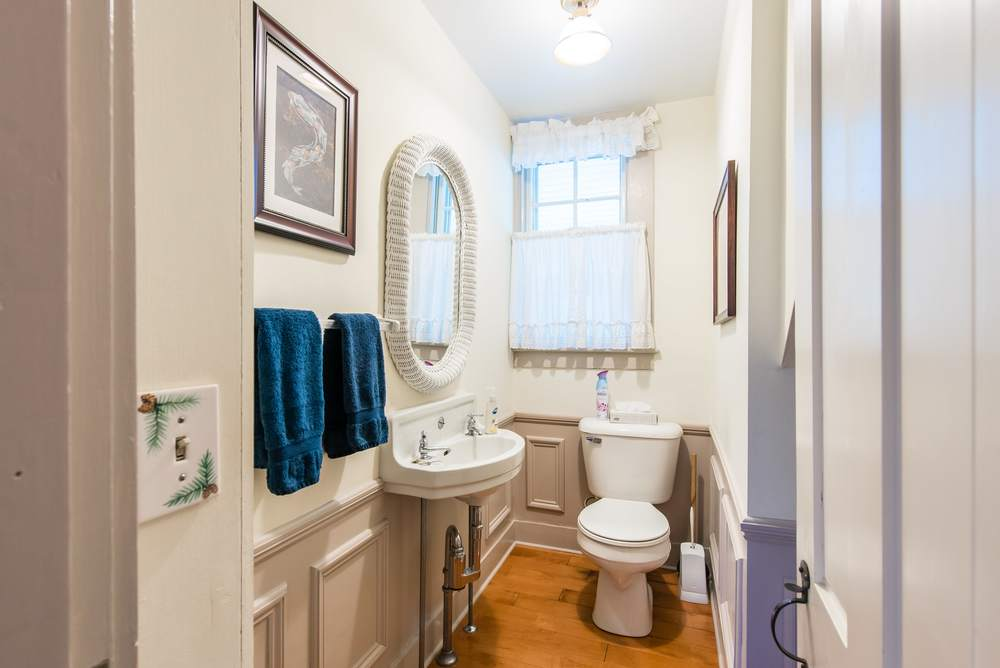 Downstairs powder room.