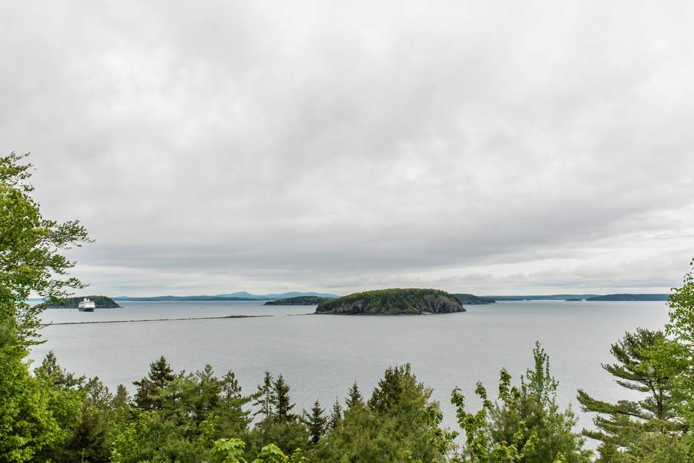 From the porch overlooking Frenchman's Bay and the Porcupine Islands.
