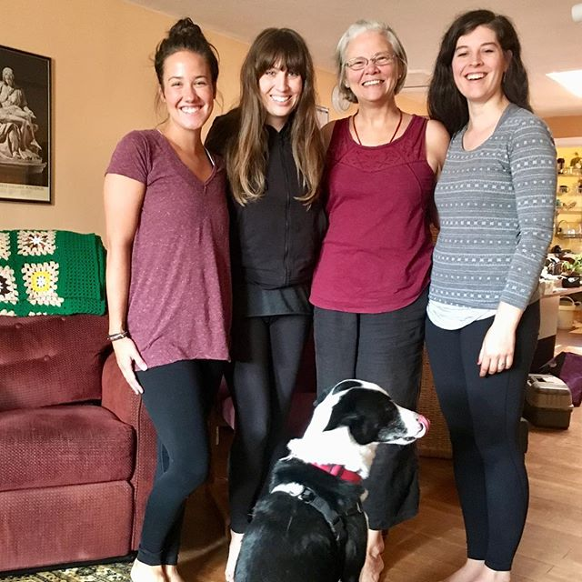 There's a whole lotta love in this group. ❤️ Grateful for work meetings where we connect, laugh, cry, and inspire one another! Oh, and eat snacks! :) #yogateachers #planningclasses #yogafamily #seattleholisticcenter #rishithedog #family #connection #mondaymotivation #kula