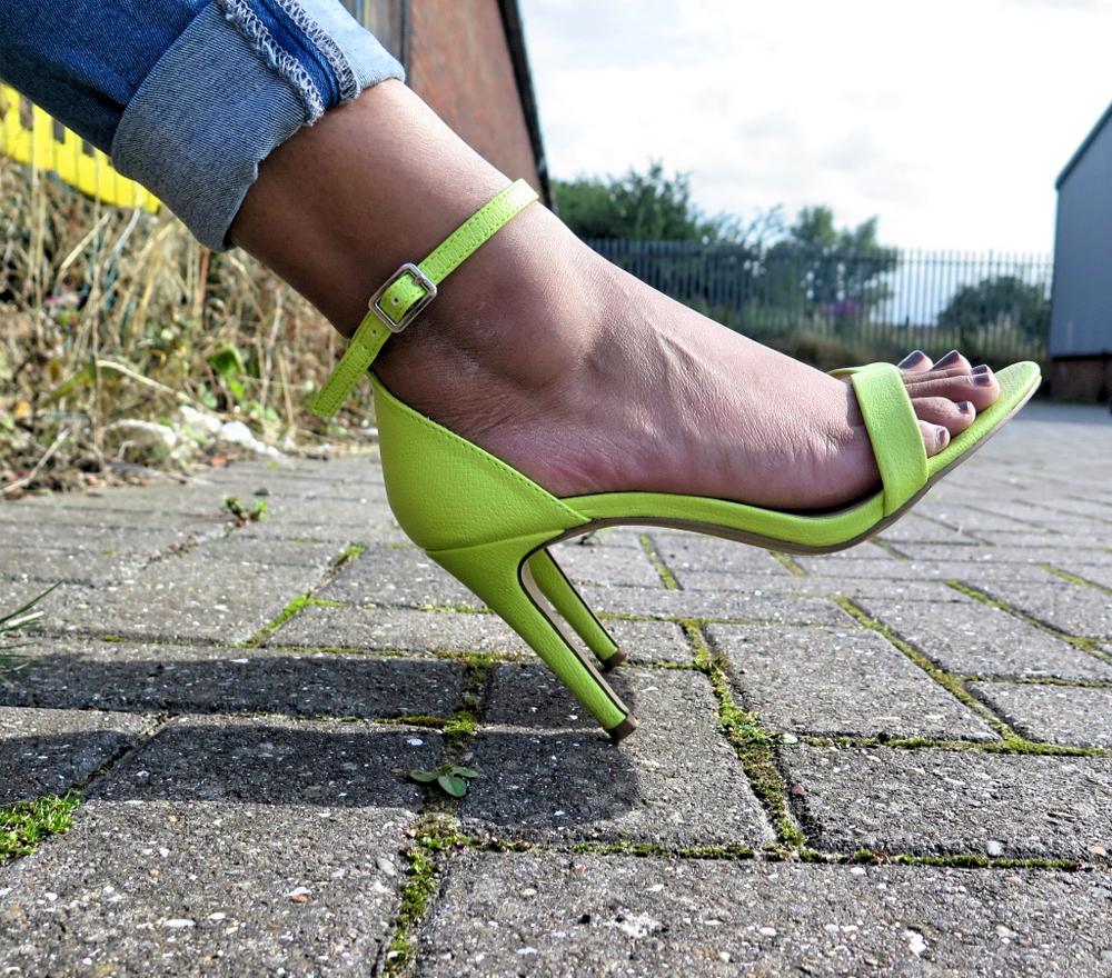 new look heels neon