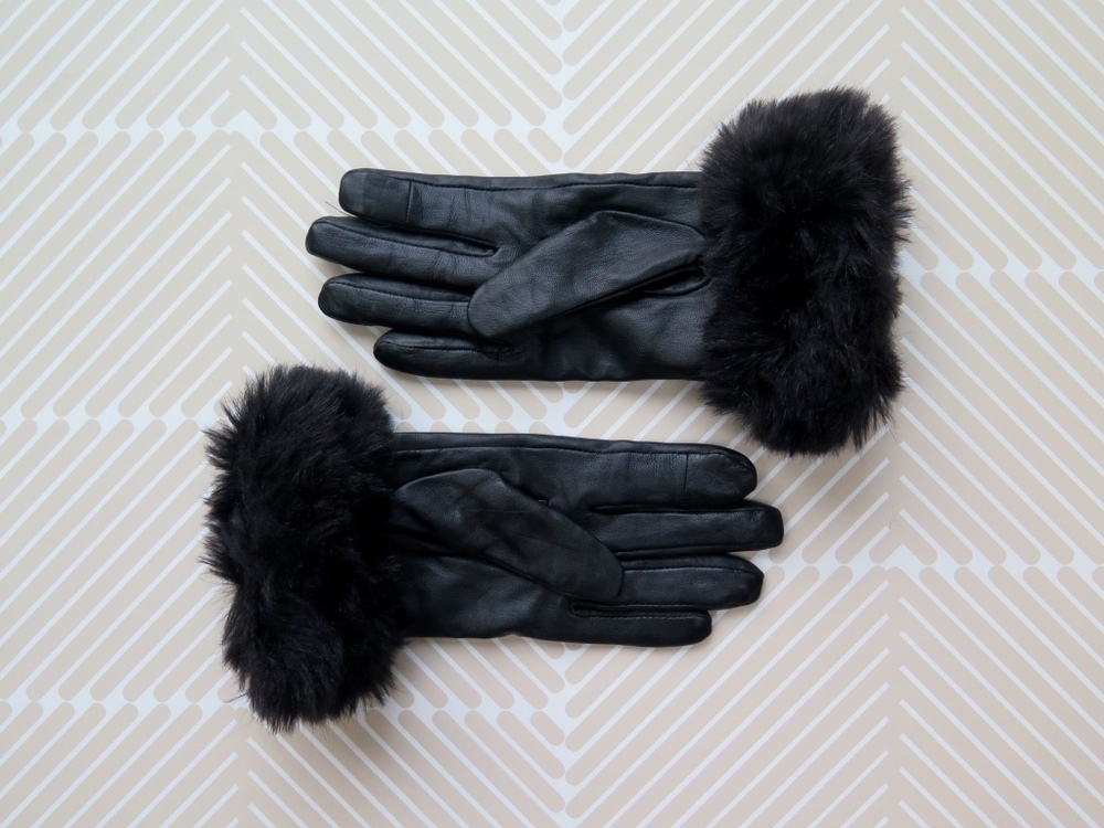 Primark faux fur gloves