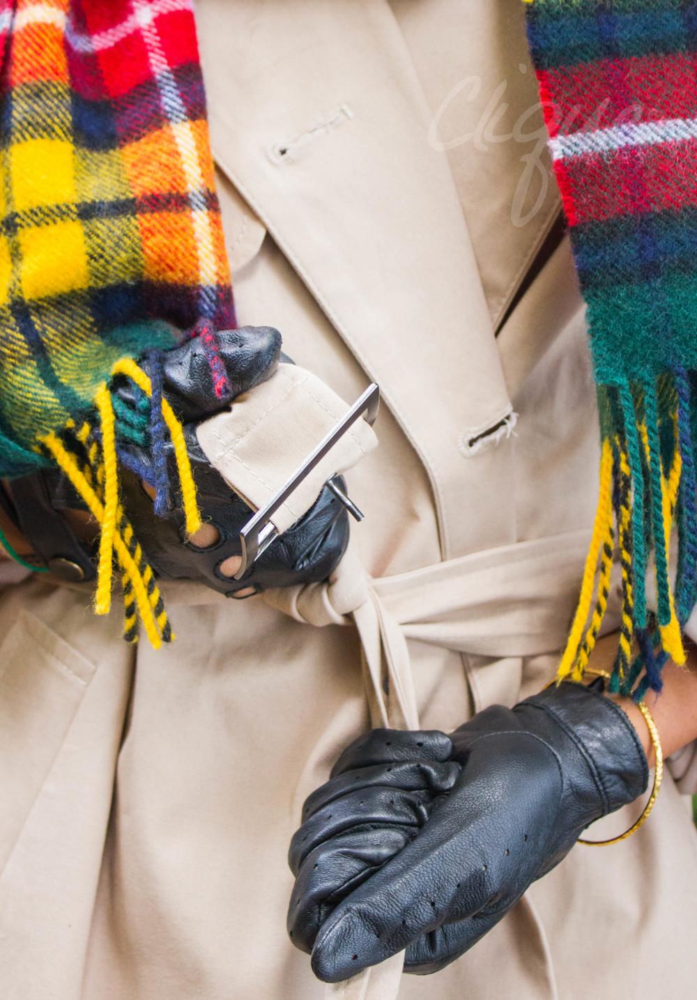 black leather glovesASOS PETITE MAC, TOPSHOP SCARF, LEATHER GLOVES