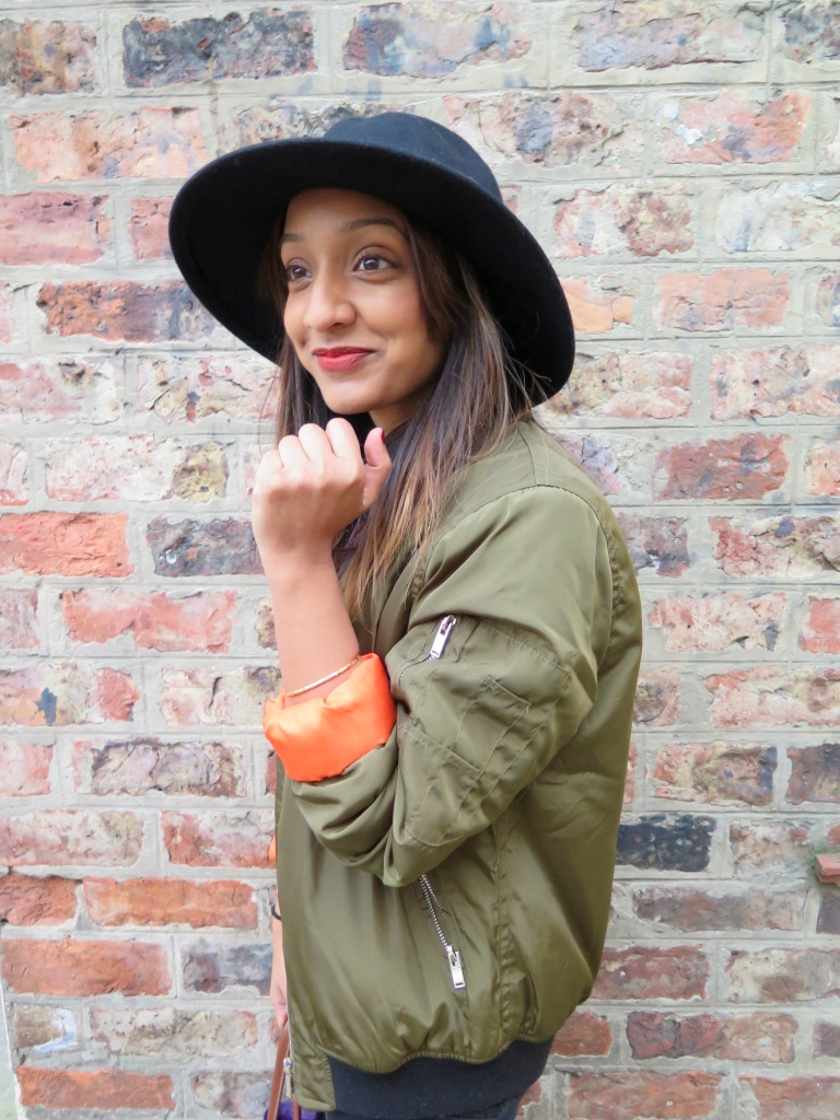 MISSGUIDED BOMBER JACKET, TRILBY
