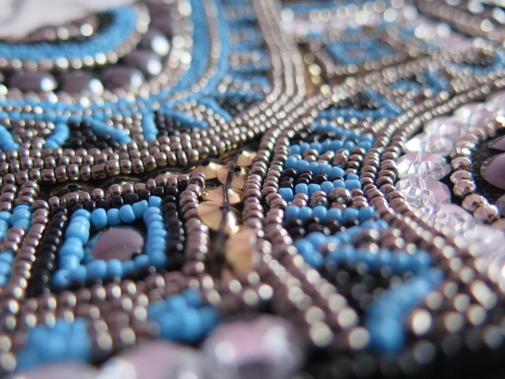PRIMARK BLUE EMBELLISHED CLUTCH BAG