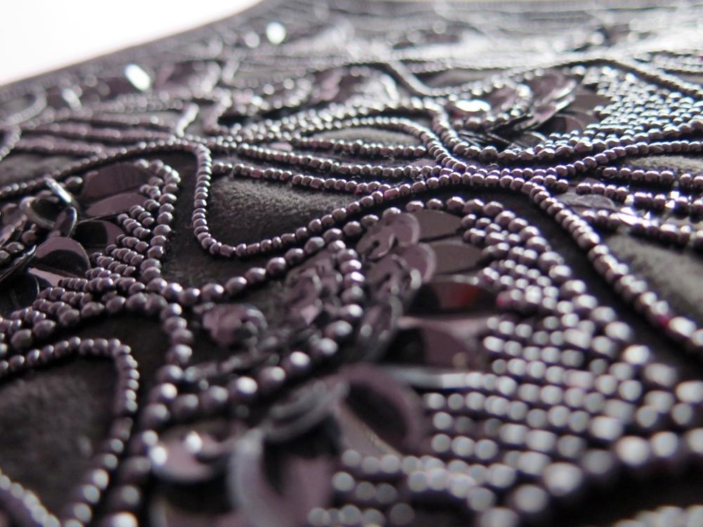 PRIMARK BLACK FRINGED CLUTCH