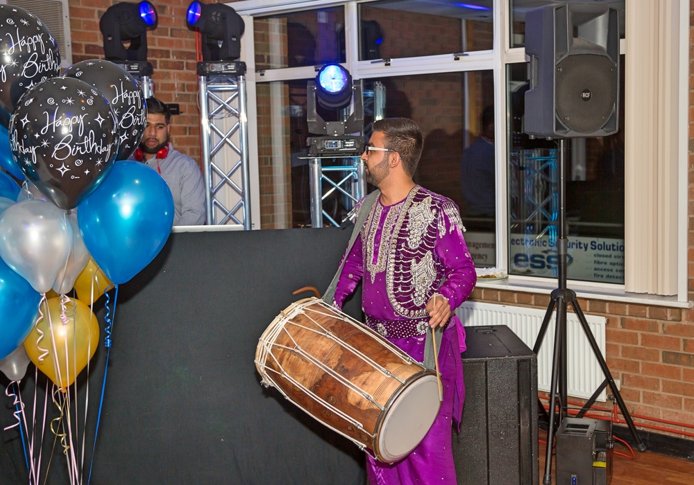 Indian Dhol drummer