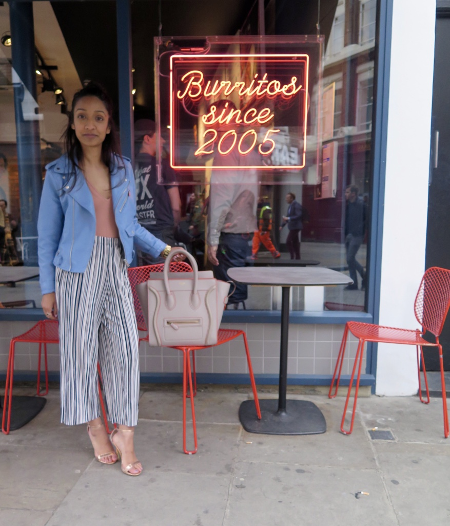 ASOS Body, Topshop Petite Culotte Trousers, Zara Faux Leather Jacket