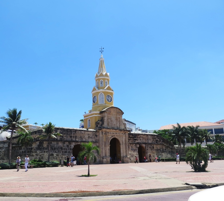 Clock tower, el centro, Cartagena, Colombia