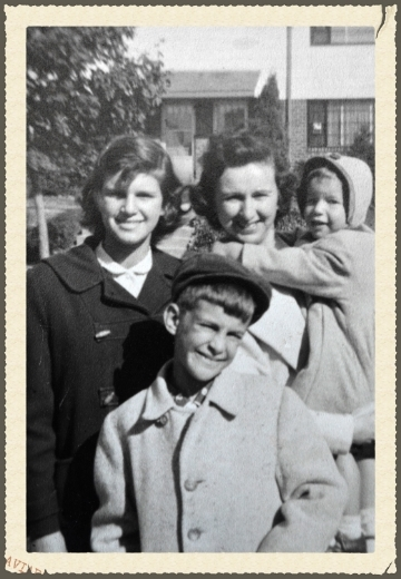 Mark, his mother and sisters circa 1957.