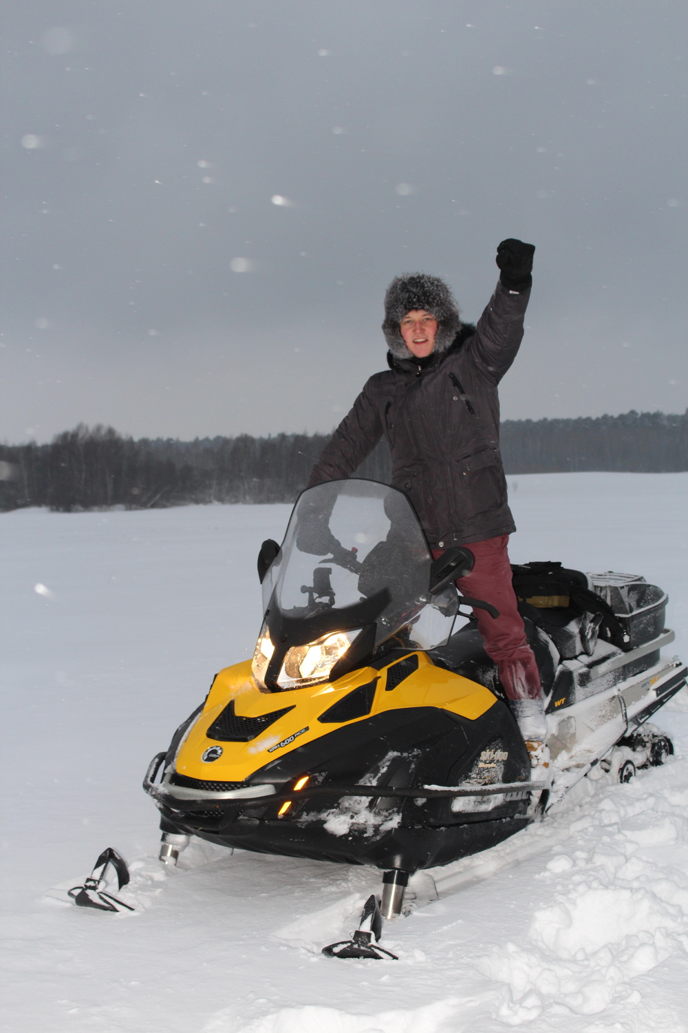 The unrivalled joy of riding a snowmobile