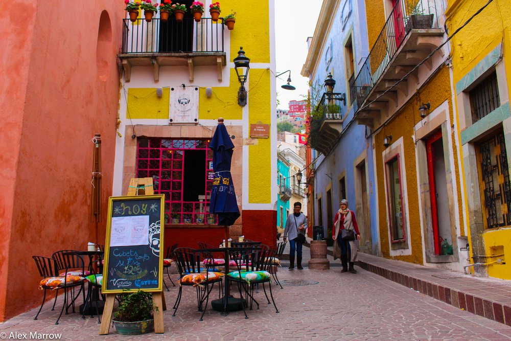 A Colourful Street in Guanajuato