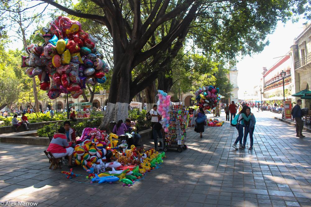 Balloon Sellers in Oaxaca