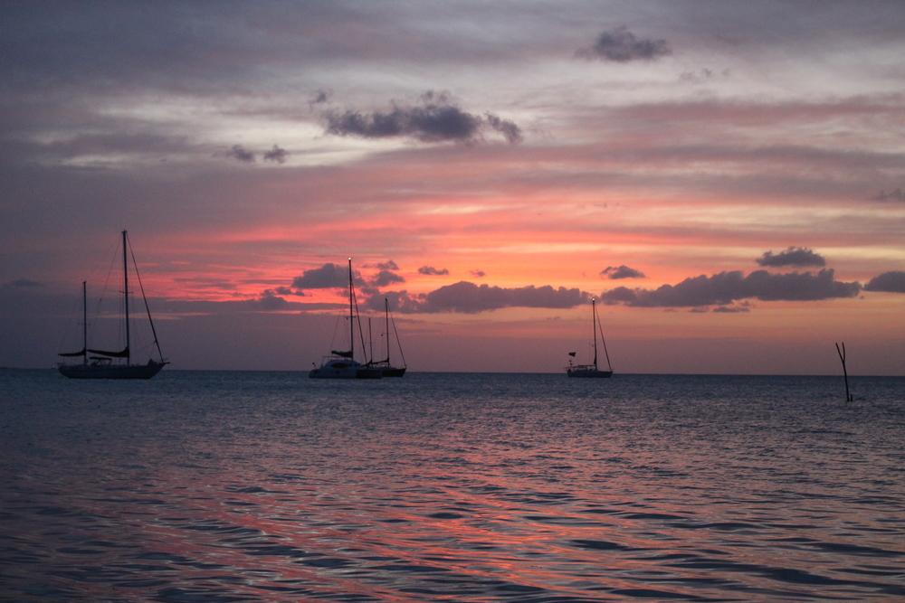 A Belizean sunset from Caye Caulker