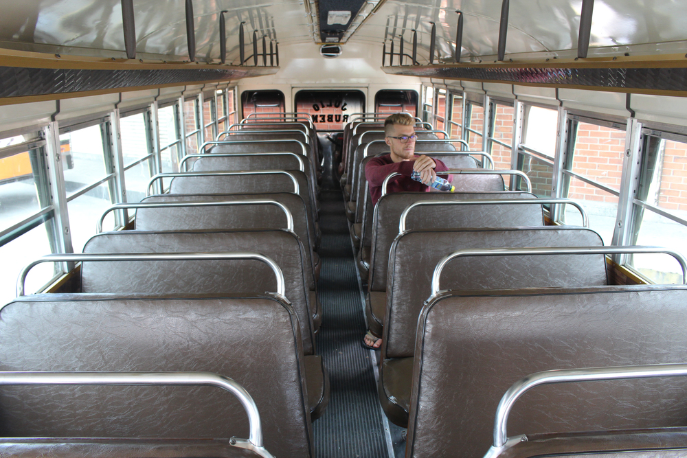 The bus before it fills up