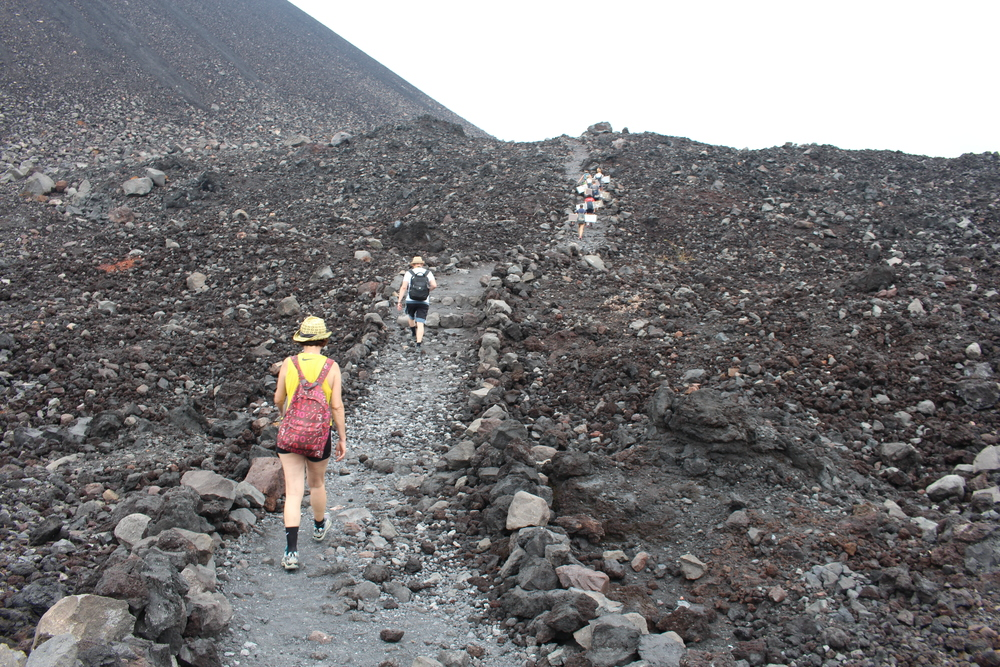 The start of the Cerro Negro trail
