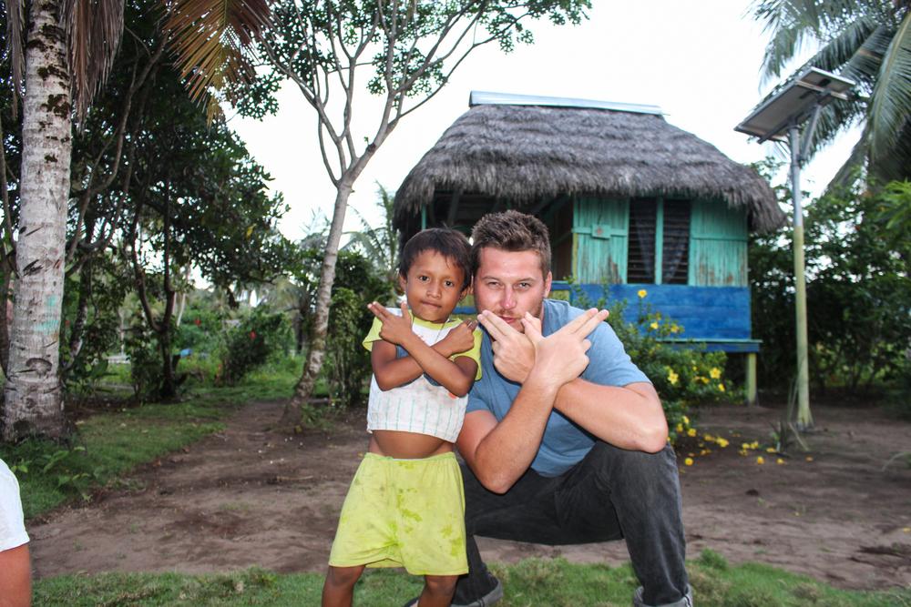 My Panamanian protege, adopting the 'Grime Merchant' pose