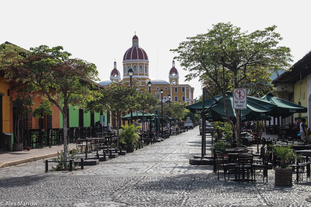 Tree-lined boulevard, Granada, Nicaragua