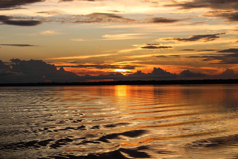 An Amazon sunset somewhere in Brazil