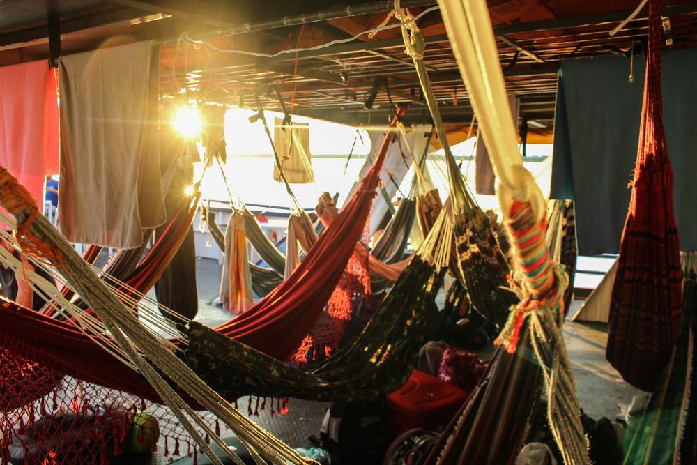 The bedroom of hammocks