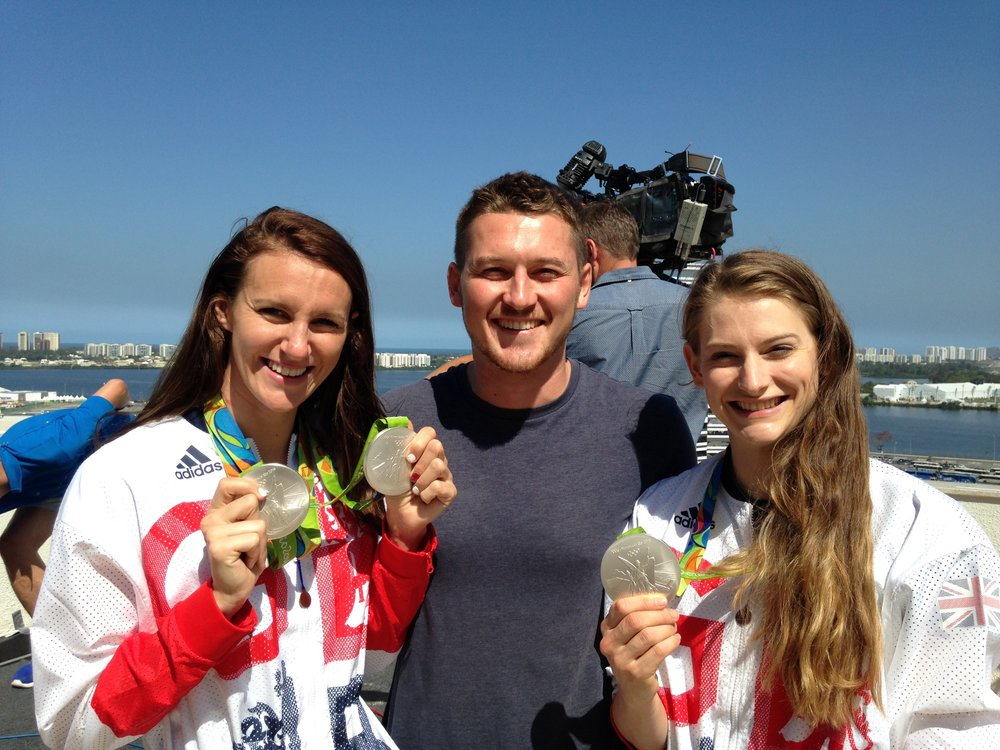 Meeting medallists Jazz Carlin and Bryony Page