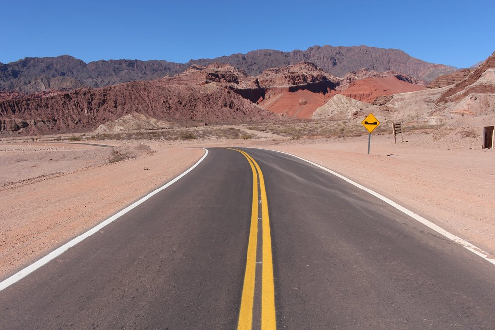 The winding roads of north western Argentina