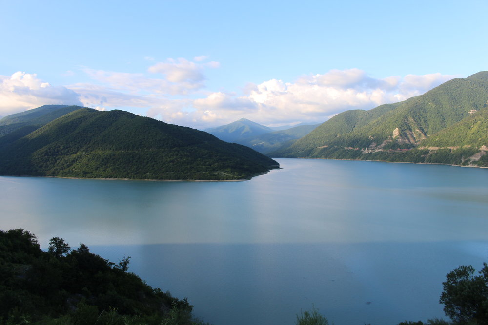 Zhinvali Reservoir, near Tbilisi