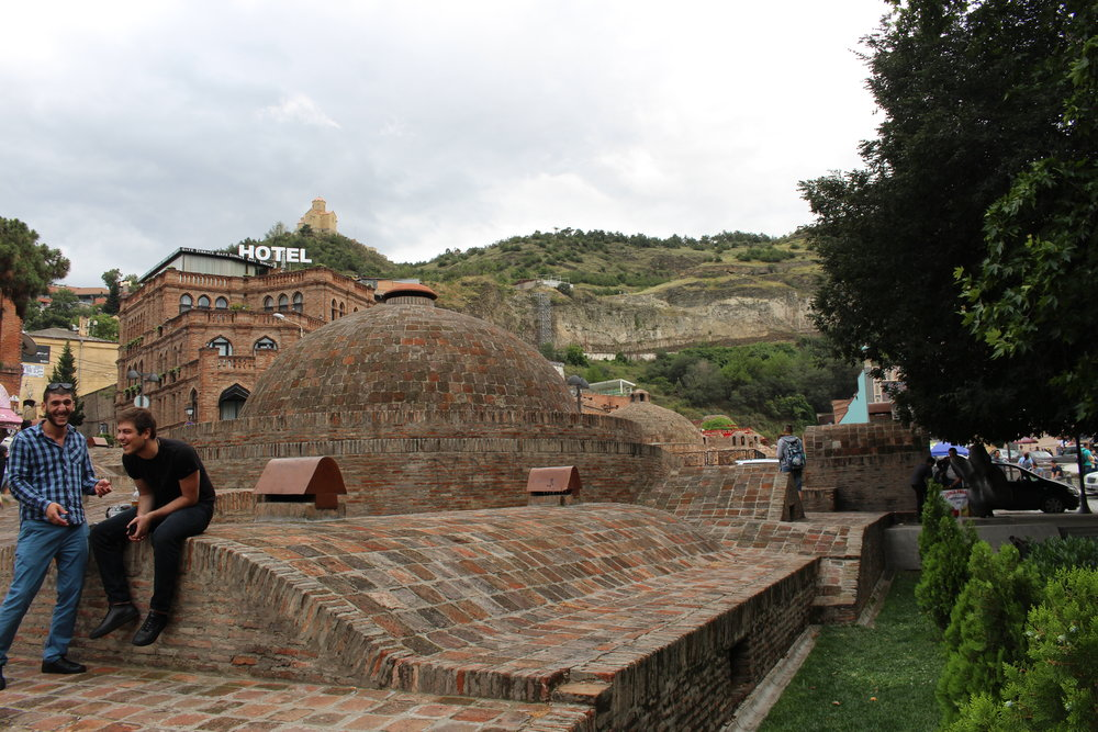 The famous sulphur bath house in Tbilisi