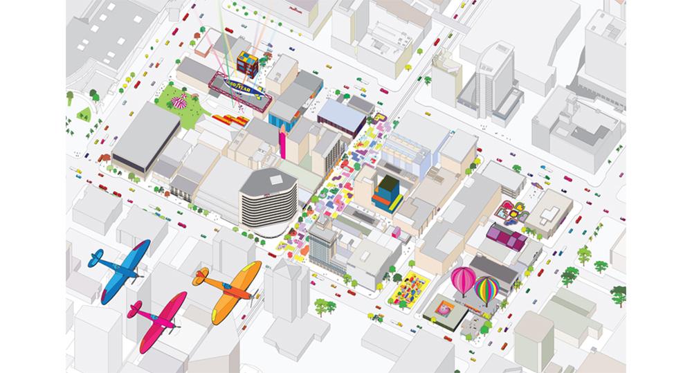 Giant urban toys bureau spectacular for Bureau spectacular