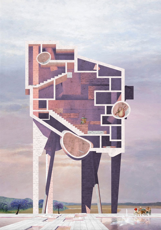 Hovering Public Building