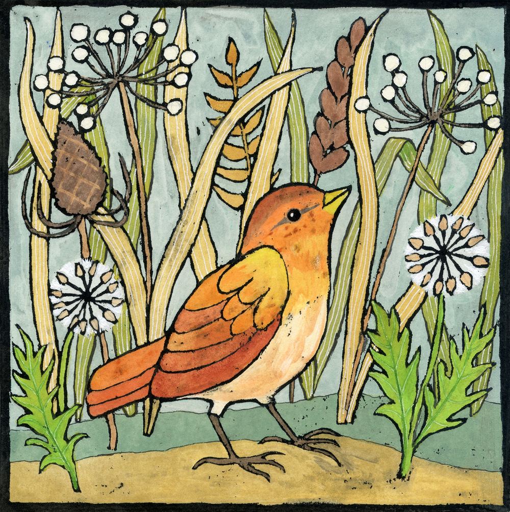 Bird amongst the Seed Heads