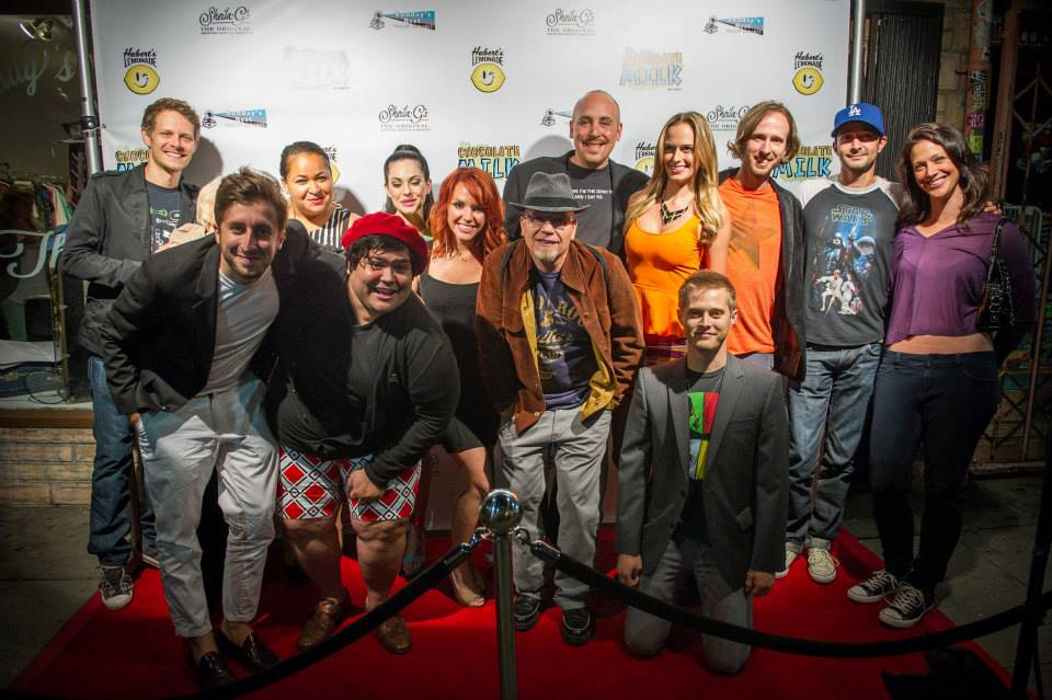"Cast and crew of ""Chocolate Milk: The Movie"""