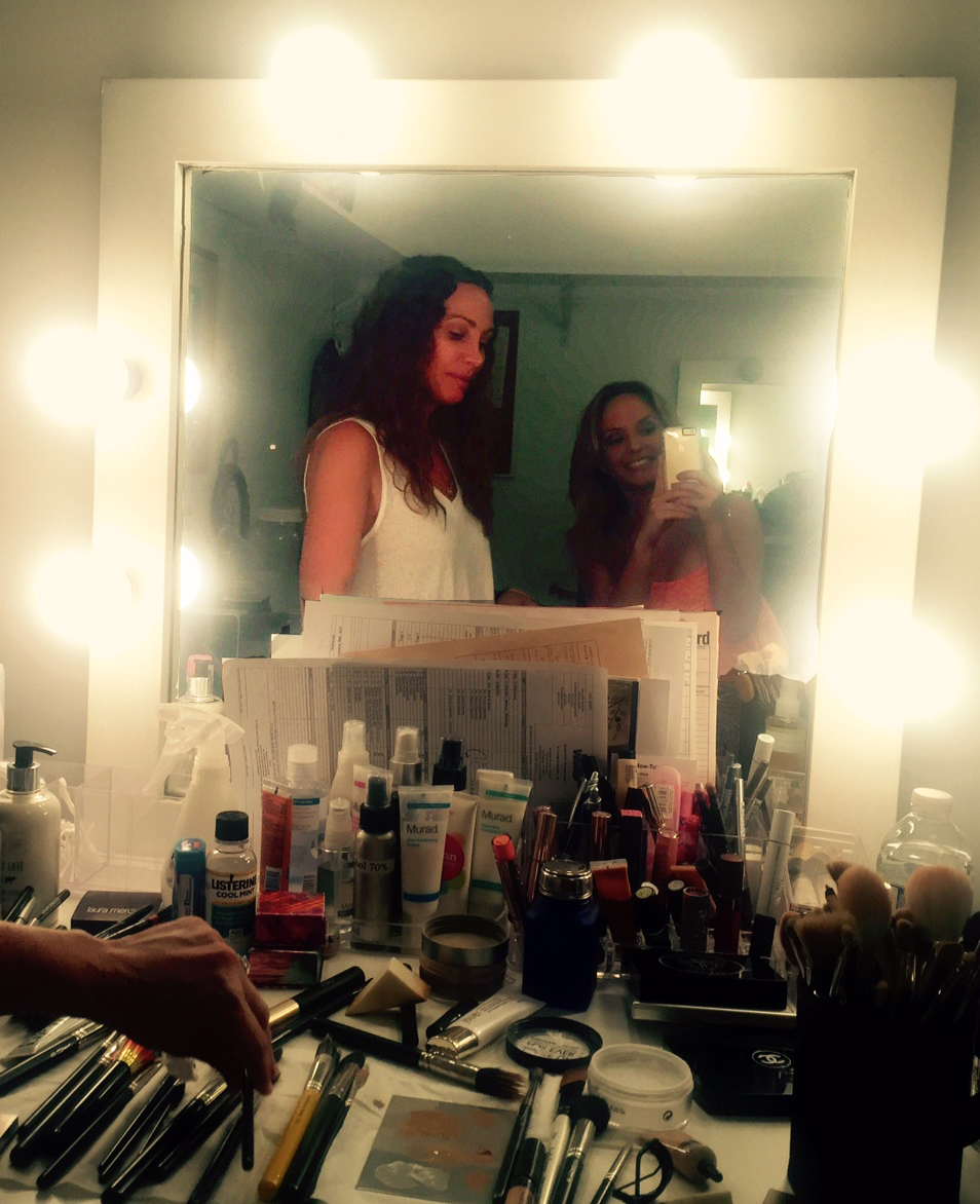 In the make-up chair at Disney's Girl Meets World