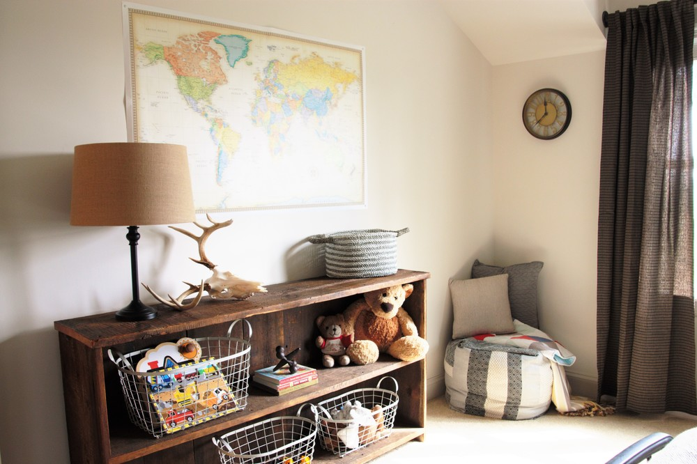 Boy Room. Boy Room Ideas. Big Boy Bedroom. Boy room inspiration. DIY Shelving. Reclaimed wood shelf.