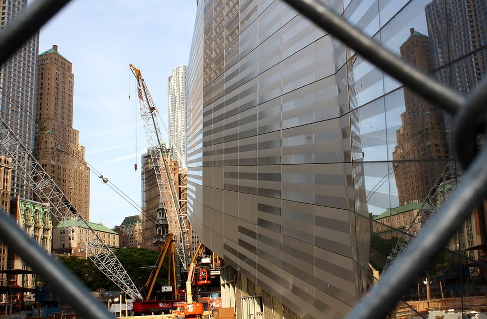 World Trade Center Memorial construction