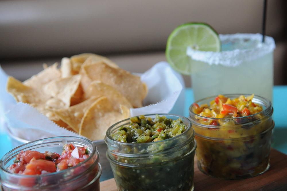 GUACAMOLE & SALSA - Includes:Salsa FrescaSalsa VerdeMango HabaneroGuacamoleCorn Chips$5 per person