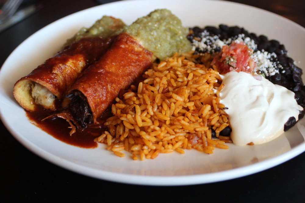 ENCHILADA SPREAD - Pequeño $150 (approximately 10 people)Grande $300 (approximately 20 people) Choose 3 proteins: Green Chili Pollo (chicken)Barbacoa de Carne (braised beef)Carnitas (pork)Black Turtle Bean (vegetarian)Served with: Spanish RiceBlack BeansRed & Green Chile SauceCremaSalsa FrescaGreens tossed with cotija cheese