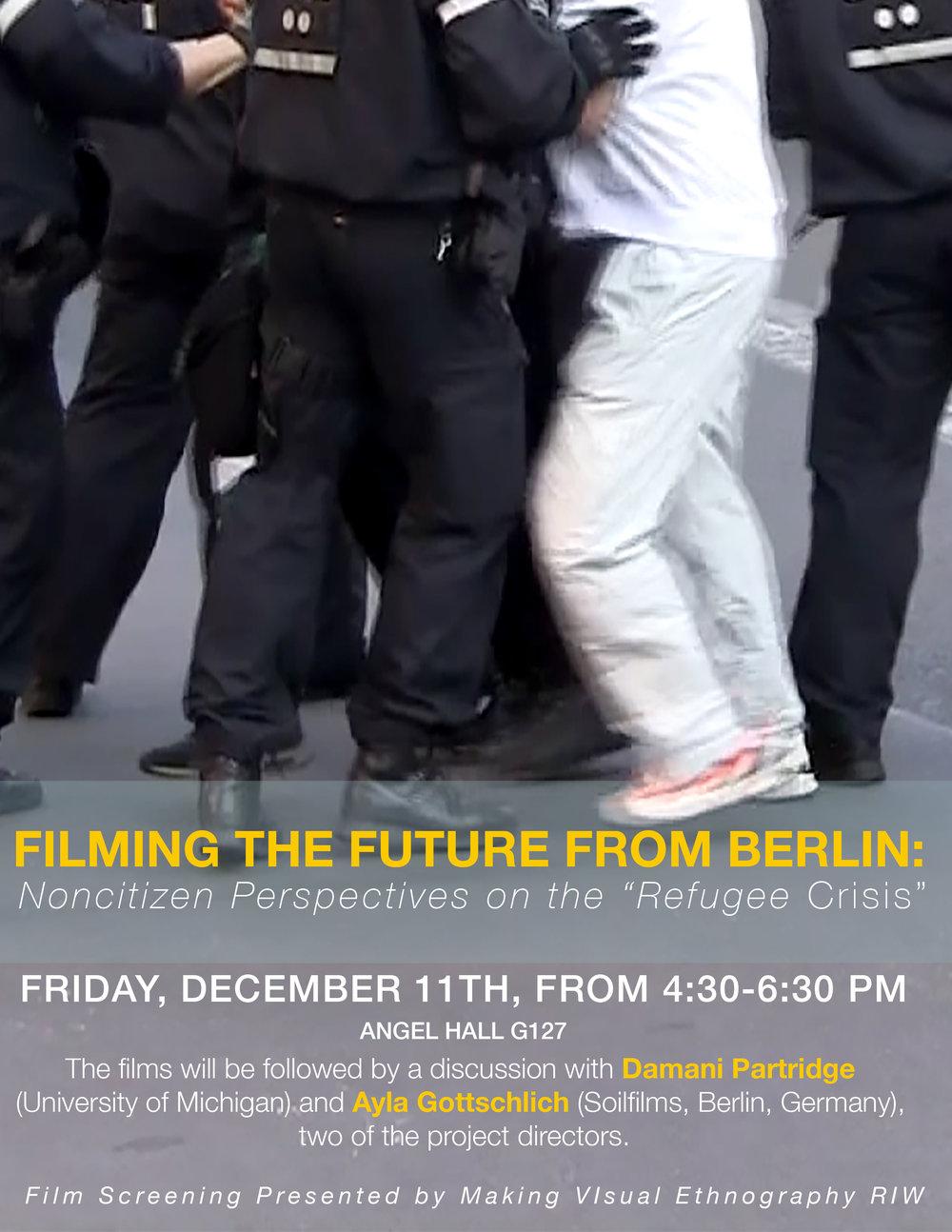 film screening poster for Making Visual Ethnography RIW, University of Michigan