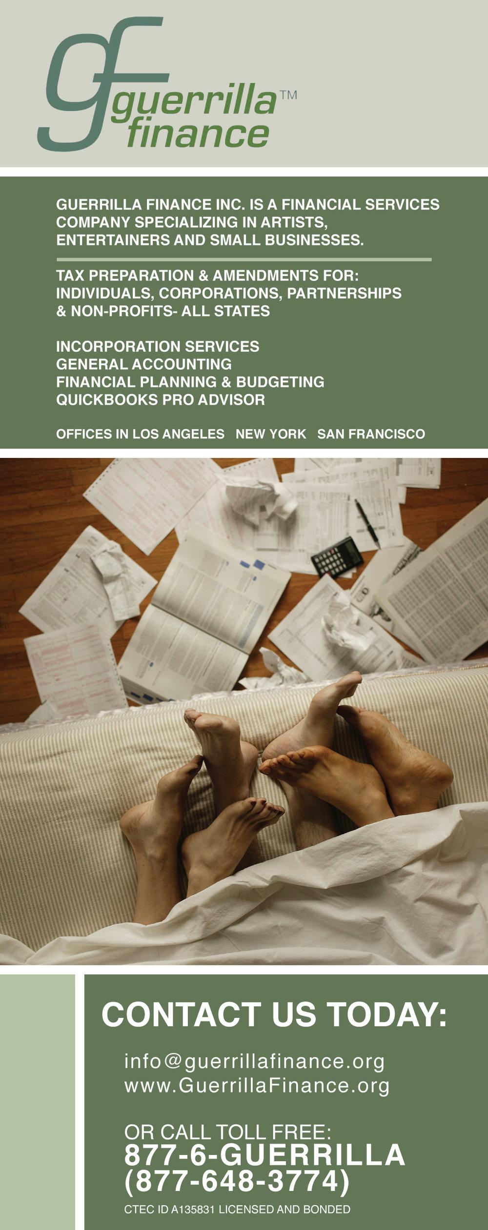 ad for Guerrilla Finance