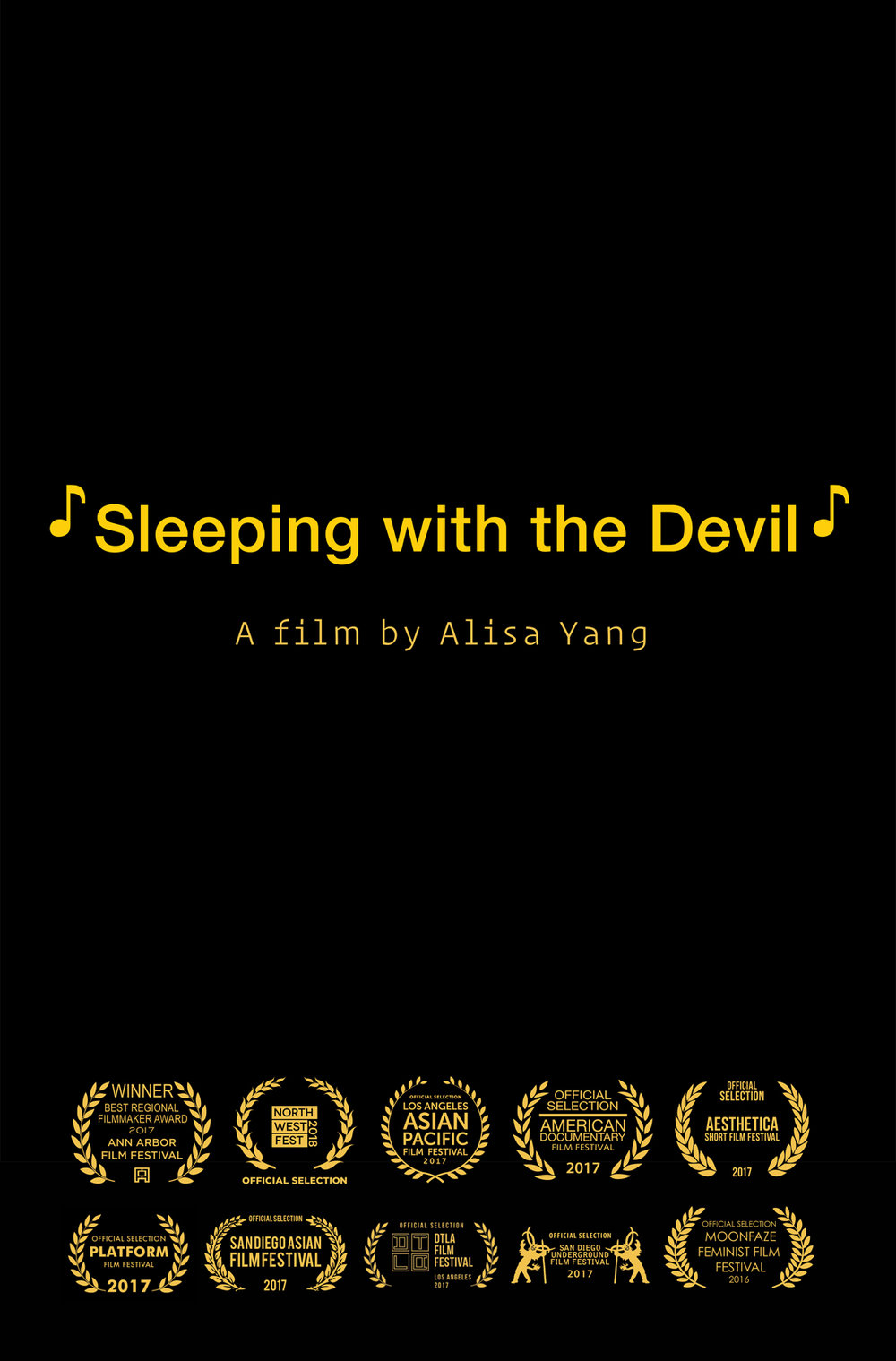 Sleeping with Devil Poster 2017