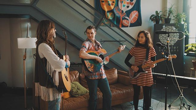 It was truly a pleasure to welcome @Pink_Neighbor into the loft today. This trio from Grinnell make and perform music with an emphasis on community and compassion. Stay tuned for this great session of two songs with a few little extras thrown in.
