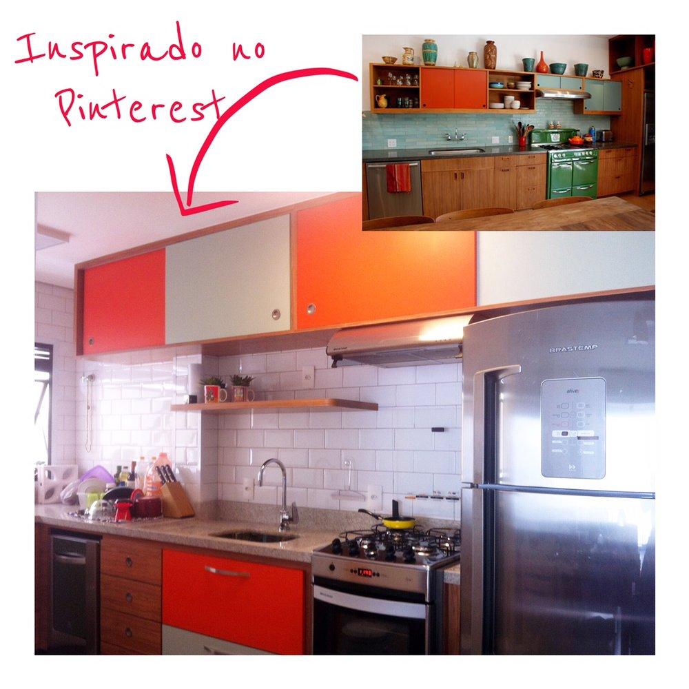 COZINHA BICOLOR COM PEGADA VINTAGE. Foto Menor: Pinterest Foto Maior: Projeto Autoral para Cozinha