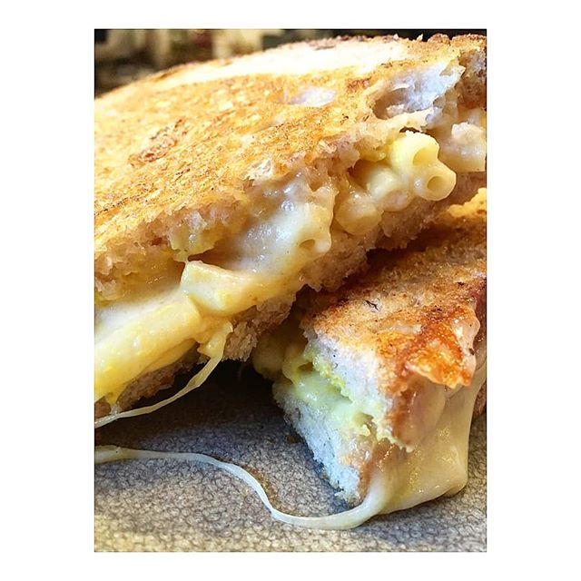 Lunch time! Or anytime...our Tri Mac n Cheese toastie made vegan or veggie on sourdough or gluten free bread, can be found;  freshly made on premises or you can taste the wonder via Deliveroo... . . #triprana #socialenterprise #notforprofit #cafe #vegan #veganporn #foodporn #vegansofinsta #veggie #veganlondon #ayurveda #plantbased #meatfree #eatkind #london #haringey