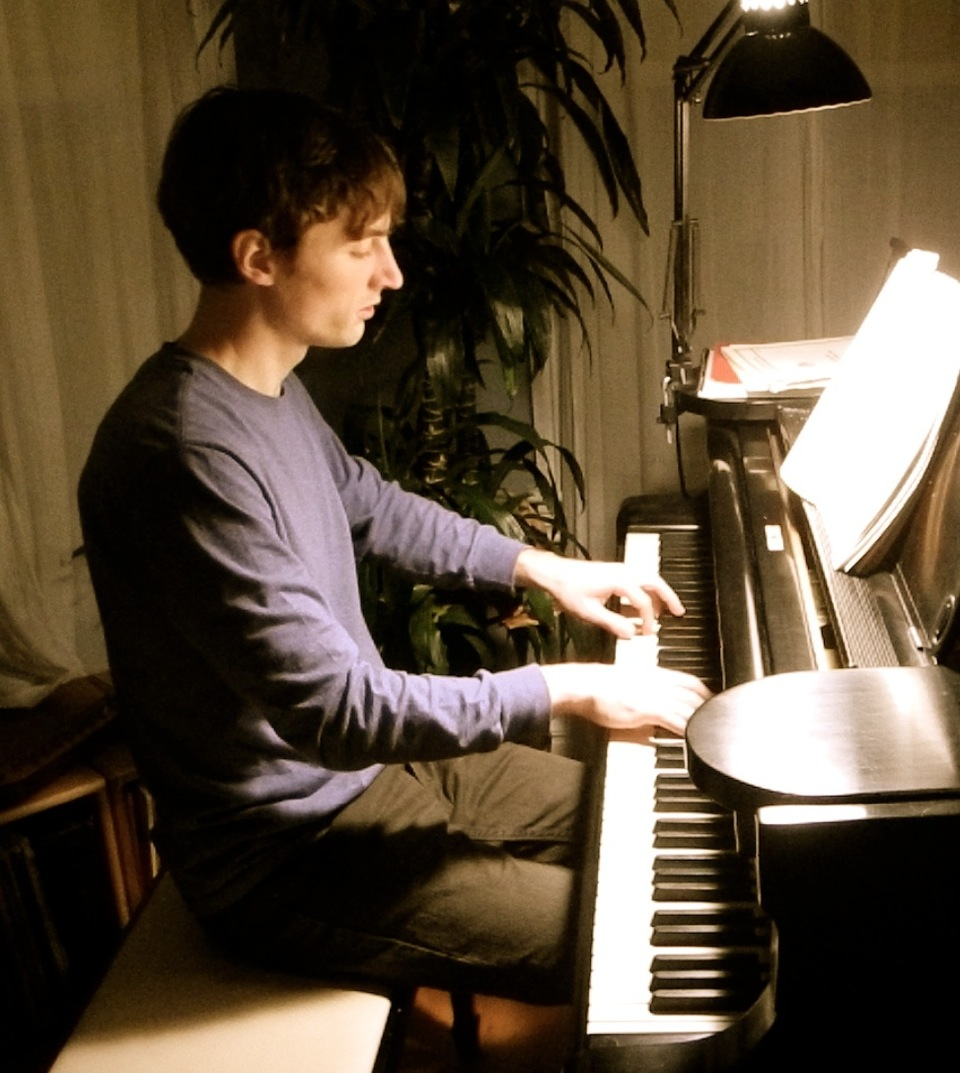 Dan at the piano