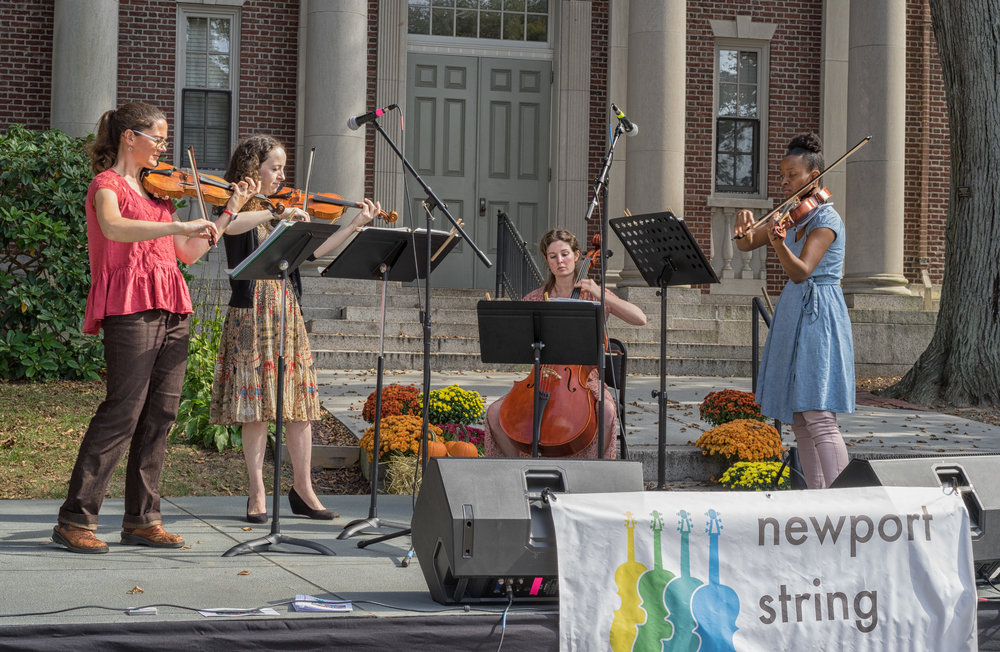 In action at last year's Street Fair with Jaime Feldman and Ashley Frith.