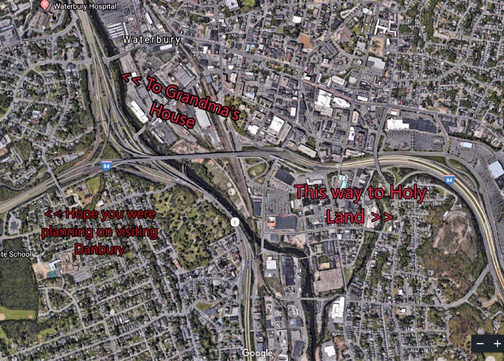 """Mixmaster"" Waterbury, CT, I-84 Route 8 Interchange"