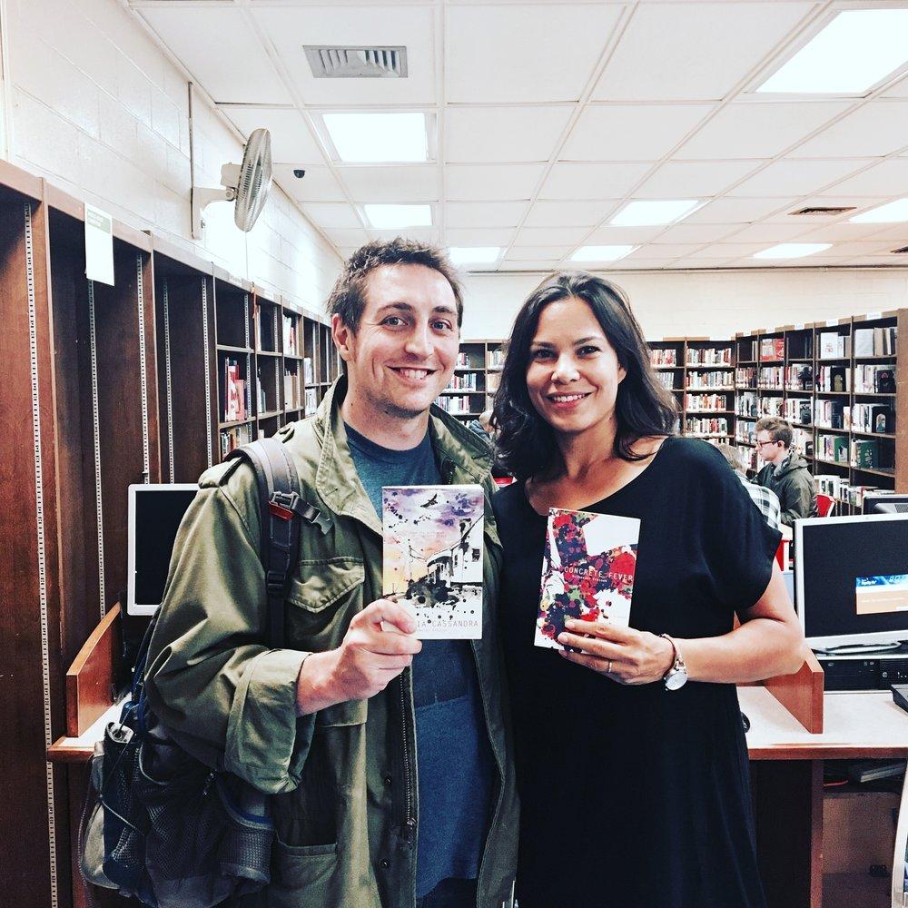 Marina Aris with Author Nathaniel Kressen