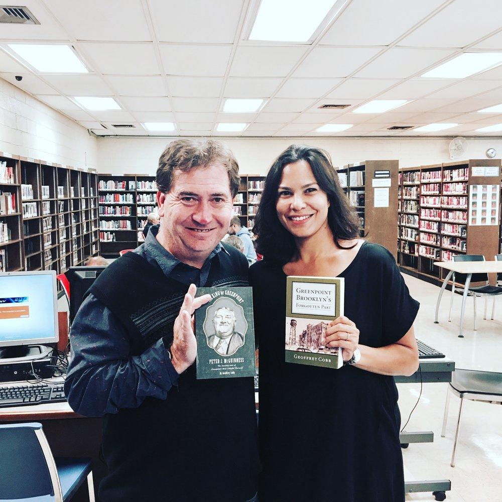 Marina Aris with Author Geoff Cobb